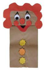 carnival crafts   dltk s crafts for kids paper bag puppet clown craft