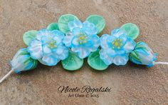 Aqua Gardenia Blossoms Set