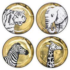 Modern Home Accessories | Porcelain Animalia Coasters | Jonathan Adler