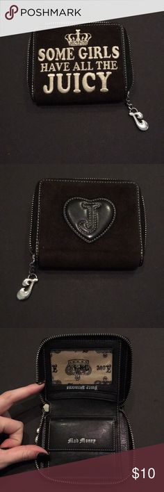 Black juicy couture wallet Black suede wallet. Brand new only used once! Bags Wallets