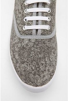 Floral Lace Plimsoll Sneaker - StyleSays