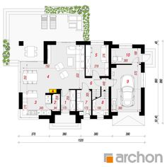 Dom w śliwach 2 (G) House Outside Design, Thing 1, Traditional House, Floor Plans, Architecture, Arquitetura, Architecture Design, Floor Plan Drawing, House Floor Plans