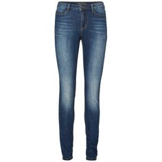 Vero Moda Skinny Jeggings ($21) ❤ liked on Polyvore featuring pants, jeans, bottoms, 11. pants., stretch pants, blue jeggings, skinny trousers, skinny jeggings and denim jeggings