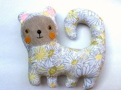 Daisy the Cat // Upcycled recycled Kitty Plush // by sarahbrown, $37.50