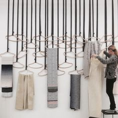 ABSTRACT CONCEPT: Hangers with handpicked textiles...