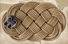 nautical rope mats | Nautical Braided Rope Welcome Mat | Places & Spaces