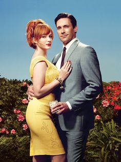 Joan Holloway (Harris) & Don Draper, Mad Men  (Christina Hendricks & Jon Hamm)