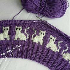 Knit A Purrrfect Cat-Tastic Hat … Free P Knitting - Diy Crafts - Marecipe Diy Crafts Knitting, Easy Knitting Patterns, Knitting Charts, Knitting Stitches, Free Knitting, Baby Knitting, Stitch Patterns, Crochet Cross, Crochet Baby