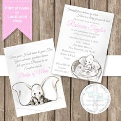 Dumbo Vintage Baby Shower **DIGITAL FILE** by SherasDesignsbyFFF on Etsy
