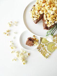 """Auf der """"Mammilade""""_n-Seite des Lebens, Schokokuchen mit Karamell-Popcorn"""