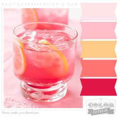 pink, peach and orange color palette