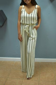 RD Style Alayna Striped Jumpsuit #myway #life #summeroutfit #ad #summercasual #outfitideas