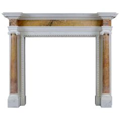 English George II Siena and Statuary Marble Chimneypiece | From a unique collection of antique and modern fireplaces and mantels at http://www.1stdibs.com/furniture/building-garden/fireplaces-mantels/