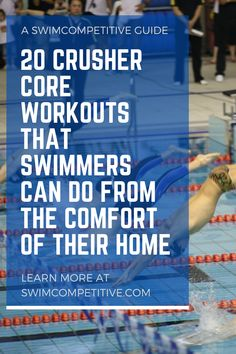 Make sure that your core strength is top notch when you get back in the pool by trying out these 20 killer core exercises and workouts for swimmers. Workouts For Swimmers, Gym Workouts, Triathlon Swimming, Lap Swimming, Swim Training, Core Exercises, Drills, Training Programs, Strength
