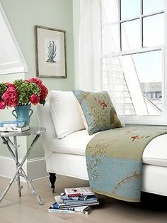20 Best Interior Paint Colors for Your Home- Great paint options for a new updated look. Office Paint Colors, Green Paint Colors, Green Color Schemes, Wall Colors, Best Interior Paint, Interior Paint Colors, Interior Design, Home Design, Interior Ideas