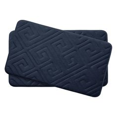 Caicos Small 2 Piece Premium Micro Plush Memory Foam Bath Mat Set