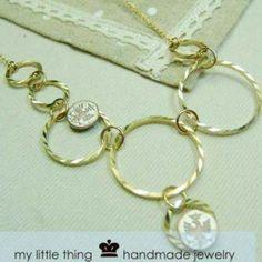 Glamorous Golden Circle Necklace Circle Necklace, Pendant Necklace, Golden Circle, Bridal Jewelry, Elephant, Glamour, Bracelets, Bridal Bridal Jewellery, Bracelet