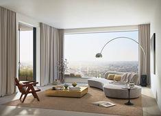 Diseños de cortinas modernas para salón