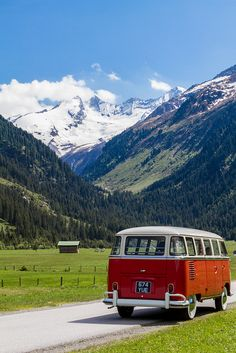 My VW Bus at home in the Alps !
