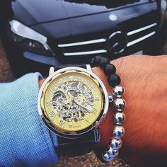 Mercedes x Gents Timepieces featuring Gatsby ($58). Shop at GentsTimepieces.com Mens Fashion Blog, Men's Fashion, Mens Toys, Fan Picture, Watches For Men, Wrist Watches, Michael Kors Watch, Cool Style, Style Blog