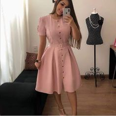 Vestidos Lindos Pretty Dresses, Dresses For Work, Short Frocks, Frock For Women, Bohemian Style Dresses, Easy Hairstyles For Long Hair, Boho Chic, Casual, High Waisted Skirt