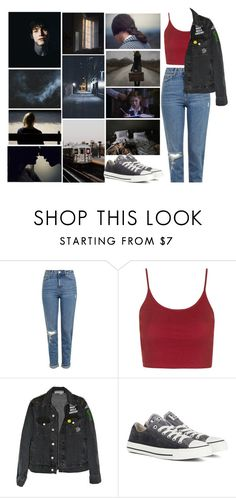 """""""lost"""" by vitoriafreitas75 ❤ liked on Polyvore featuring Topshop and Converse"""