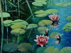 Original large oil on canvas painting 30x40 by AllaDicksonArt, $1200.00