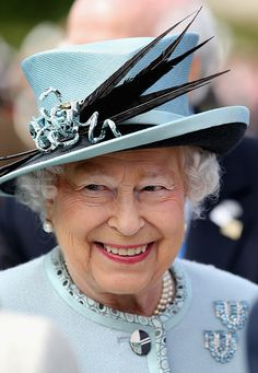 Queen Elizabeth II smiles at a Magna Carta 800th Anniversary Commemoration Event on June 15, 2015 in Runnymede, United Kingdom.