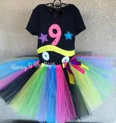 Roller Skate/80's Tutu Outfit by HoneyBBowtique1 on Etsy