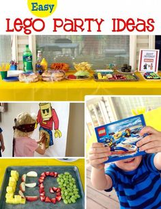 Easy Lego Birthday Party Ideas #birthday #party #legos | CupcakeDiariesBlog.com