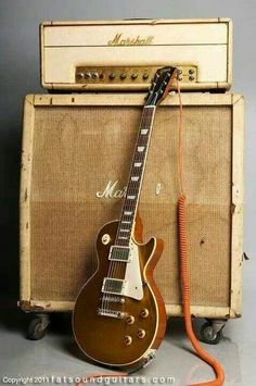 Les Paul and Marshall Amp