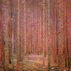 Fir Forest I Gustav Klimt art for sale at Toperfect gallery. Buy the Fir Forest I Gustav Klimt oil painting in Factory Price. Gustav Klimt, Art Klimt, Art Nouveau, Art Deco, Paul Gauguin, Ernst Ludwig Kirchner, Medieval Paintings, Vienna Secession, Greek Art