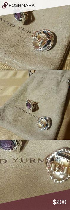 David Yurman Amethyst Infinity Earrings David Yurman Amethyst Infinity Earrings barely worn. Recently cleaned. Comes with dustbag David Yurman Jewelry Earrings