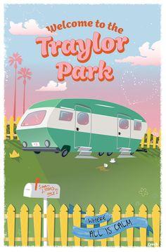"A fictional travel poster to Taylor Swift's ""Traylor Park"". 💗 #taylorswift #youneedtocalmdown #yntcd #swiftie #lover #taylorswiftlover #fanart #travelposter #artist #taylornation"
