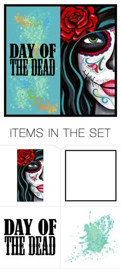 """dia de los muertos"" by art-gives-me-life ❤ liked on Polyvore featuring art, Dayofthedead and contestentry"