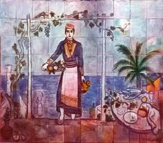 Ivan Tabaković, Dalmatinka, keramički pano