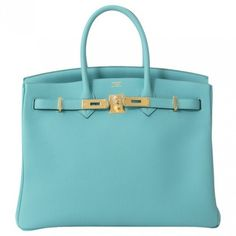 Blue Leather Handbag HERMÈS ($17,490) ❤ liked on Polyvore featuring bags, handbags, genuine leather bag, leather handbags, leather purse, hermes handbags and real leather purses