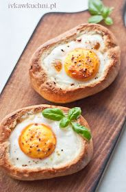 Baked eggs in bun Healthy Breakfast Recipes, Healthy Recipes, Healthy Food, Pasta, Baked Eggs, Avocado Egg, Breakfast Time, Bon Appetit, Kids Meals