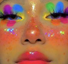 Cute Makeup Looks, Makeup Eye Looks, Eye Makeup Art, Pretty Makeup, Eyeshadow Makeup, Clown Makeup, Sweet Makeup, Eyeliner, Indie Makeup