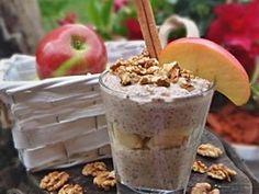 Jablka, skořice, chia raw puding Chia Puding, Healthy Options, Healthy Recipes, Dorm Food, Energy Bites, Healthy Sweets, Healthy Food, Sweet Recipes, Acai Bowl