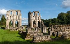 Roche Abbey, North Yorkshire, UK. is a 12th century Cistercian monastery . The Abbey was founded in 1147. After the Abbey was dissolved by Henry VIII the ruins were incorporated as a picturesque folly into a landscape design by Capability Brown for the owners of nearby Sandbeck Hall.