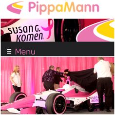 Photos from the #PinkPresser that launched Pippa Mann's partnership with #SusanGKomen to raise awareness and funding at this years #Indy500! || #IndyCar #PippaGoesPink