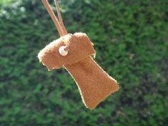 Sac médecine. Tradition Amérindienne. Pochette en suede. Cuir de cerf. Pour herbes sacrées Amulette Sac collier Amérindien Indien d'Amérique