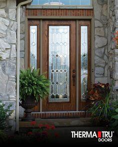 Therma tru classic craft mahogany collection fiberglass for Buy therma tru doors online
