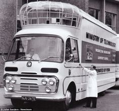 The bus was used by the Ministry of Technology in the 1960s to showcase British production techniques to staff at factories across the country in a bid to promote the country's industry
