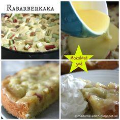 Mjuk rabarberkaka Fika, Pavlova, Dessert Recipes, Desserts, Mashed Potatoes, Macaroni And Cheese, Tart, Food And Drink, Sweets