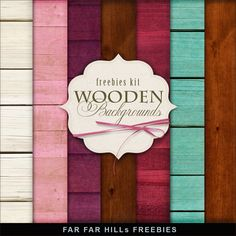 Freebies Kit of Wooden Backgrounds.