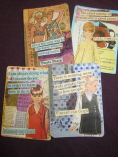 A few cards short of a full deck - Altered Playing Cards - PAPER CRAFTS, SCRAPBOOKING & ATCs (ARTIST TRADING CARDS)