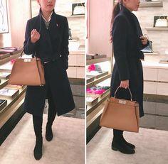 b2b48a38084d Fendi Selleria Peekaboo handbag    Paris Purse Shopping Reviews Fendi  Peekaboo Bag