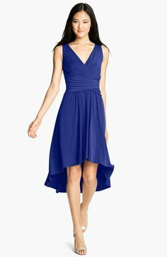 Ivy & Blu for Maggy Boutique Pleated Front V-Neck Dress available at #Nordstrom